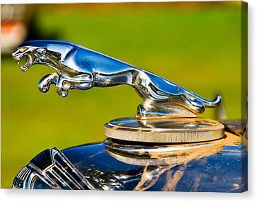 Simply Jaguar-front Emblem Canvas Print