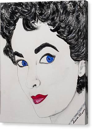 Simply Liz Canvas Print by Susan Abrams