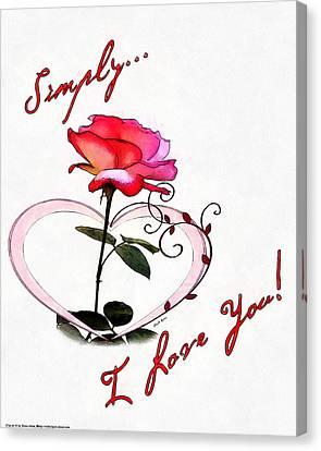 Simply Love... Canvas Print