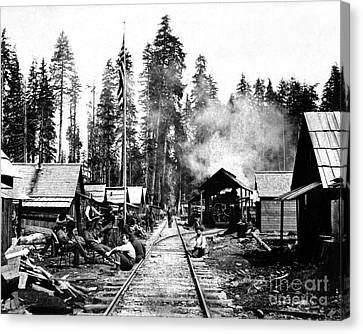 Canvas Print featuring the photograph Simpson Timber Company Logging Camp by Joe Jeffers