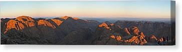 Canvas Print featuring the pyrography Sinai View From St. Catherine Montain On Sunrise by Julis Simo