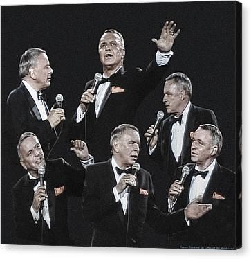 Sinatra In Concert Canvas Print