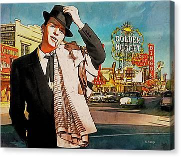 Sinatra In Vegas 1955 Canvas Print by Kai Saarto