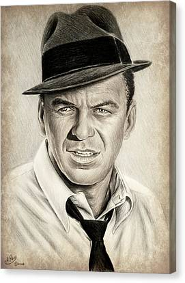Sinatra Sepia Mix Canvas Print by Andrew Read