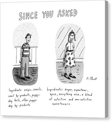 Since You Asked Canvas Print by Roz Chast