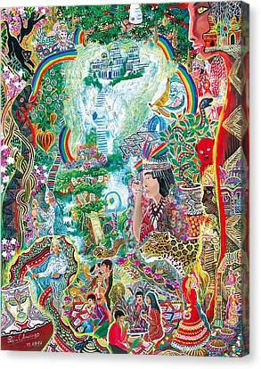 Sinchi Puca Lupuna Canvas Print by Pablo Amaringo