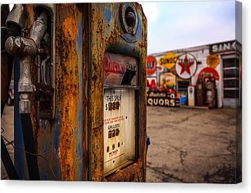 Sinclair Gas Pump Canvas Print by Keith Allen
