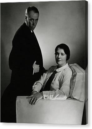 Sinclair Lewis And Dorothy Lewis Canvas Print by Edward Steichen