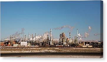 Sinclair Oil Refinery Canvas Print by Jim West