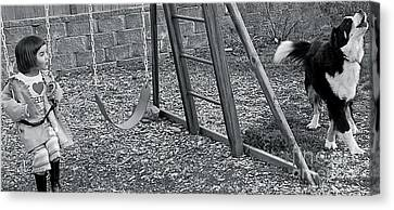 Canvas Print featuring the photograph Sing With Me by Barbara Dudley