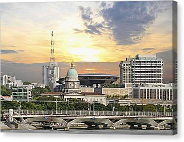 Singapore Parliament Building And Supreme Law Court  Canvas Print by David Gn