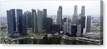Canvas Print featuring the photograph Singapore Skyline by Shoal Hollingsworth