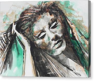 Singer Adele 01 Canvas Print by Chrisann Ellis