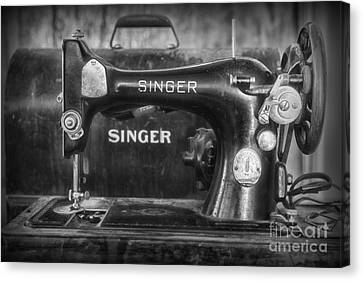 Singer Sewing Machine Retro Canvas Print by Paul Ward
