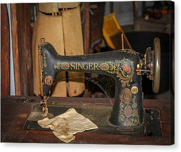 Canvas Print featuring the photograph Singer Sewing Machine  by Trace Kittrell