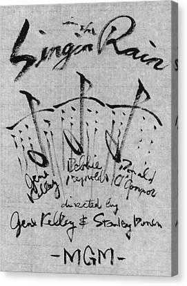 Singin In The Rain Poster Canvas Print by Kim Kimura
