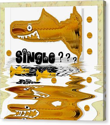 Single Shark Pop Art Canvas Print