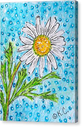 Single Summer Daisy Canvas Print by Kathy Marrs Chandler
