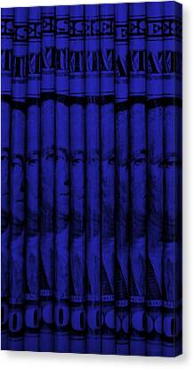 Singles In Blue Canvas Print
