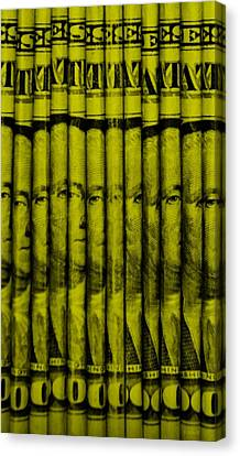 Singles In Yellow Canvas Print