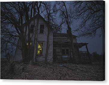 Abandoned Houses Canvas Print - Sinister by Aaron J Groen