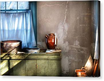 Sink - The Jug And The Window Canvas Print by Mike Savad