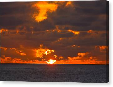 Sinking In The Sea Canvas Print by Greg Norrell