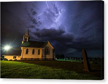 Benton Canvas Print - Sinners Welcome by Aaron J Groen