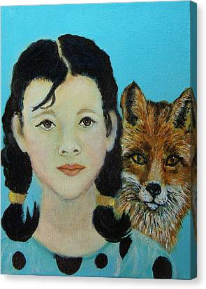 Sinopa Little Fox Canvas Print by The Art With A Heart By Charlotte Phillips
