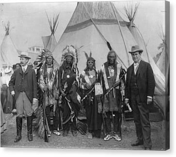 Sioux Chiefs, 1901 Canvas Print by Granger