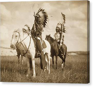 Sioux Chiefs  Canvas Print by Unknown