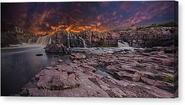 Sioux Falls Canvas Print by Aaron J Groen