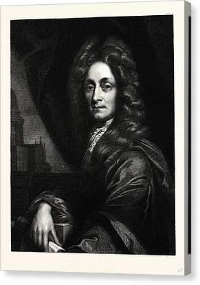Sir Christopher Wren Canvas Print by English School