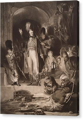 Sir David Baird Discovering The Body Of Tipu Sultan, 1843 Mezzotint Canvas Print