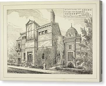 Sir Frederick Leighton's Home In London Canvas Print by British Library