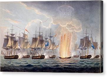 Sir Graham Moores Action Off Cape St Canvas Print by English School