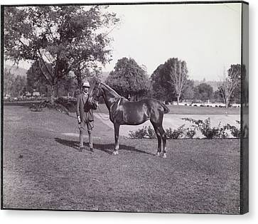 Shakespeare Canvas Print - Sir Hugh Barnes With His Horse by British Library