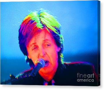 Sir Paul Glowing Canvas Print by Tina M Wenger