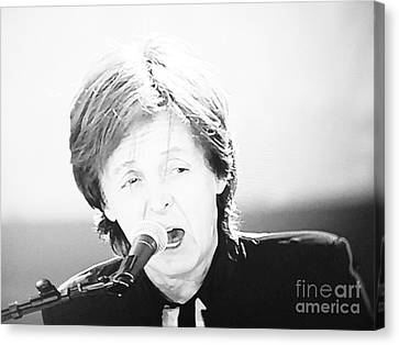 Sir Paul In Monochrome Canvas Print by Tina M Wenger