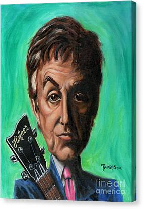 Sir Paul Canvas Print by Mark Tavares