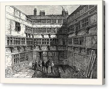 Sir R. Whittingtons House Crutched Friars 1803 London Canvas Print by English School