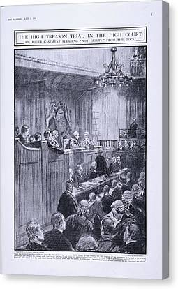 Sir Roger Casement In The Dock Canvas Print by British Library