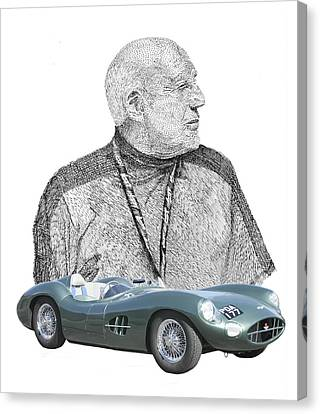 Sir Stirling Moss 1957 Aston Martin Canvas Print