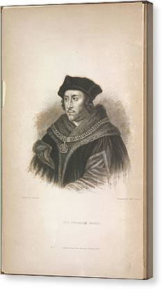 Edition Canvas Print - Sir Thomas More by British Library