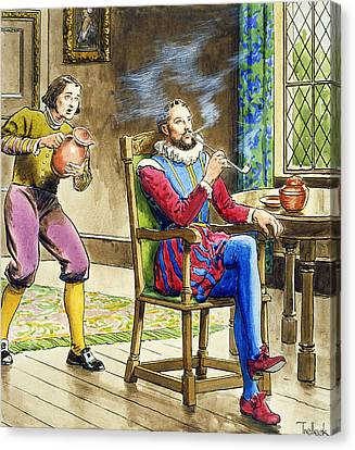 Sir Walter Raleigh From Peeps Canvas Print