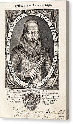 Book Pages Canvas Print - Sir Walter Raleigh by Middle Temple Library