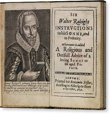 Sir Walter Raleigh's Will And Eulogy Canvas Print