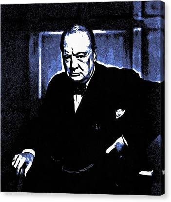 Sir Winston Churchill Canvas Print by Maciek Froncisz
