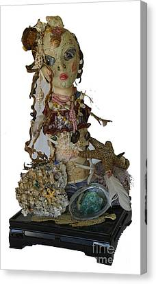 Canvas Print featuring the sculpture Siren by Avonelle Kelsey