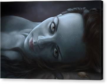 Siren Canvas Print - Siren by Bernadett Kovacs